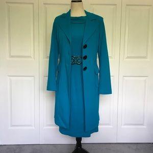 Tailored Deep Teal Dress w/Top Coat
